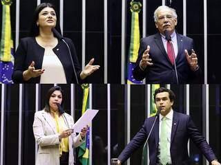 Beto Pereira, Rose Modesto, Bia Cavassa e Luiz Ovando são os deputado que votaram a favor do aumento do fundo eleitoral (Arte: Flavio Souza)