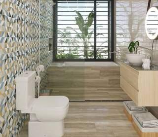 Kit sanitário com saída vertical é outro item com desconto. (Foto: Reprodução site Leroy Merlin)