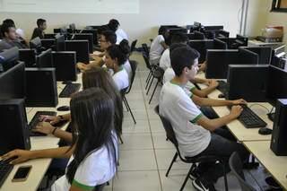Alunos em sala durante aula no IFMS. (Foto: Divulgação)