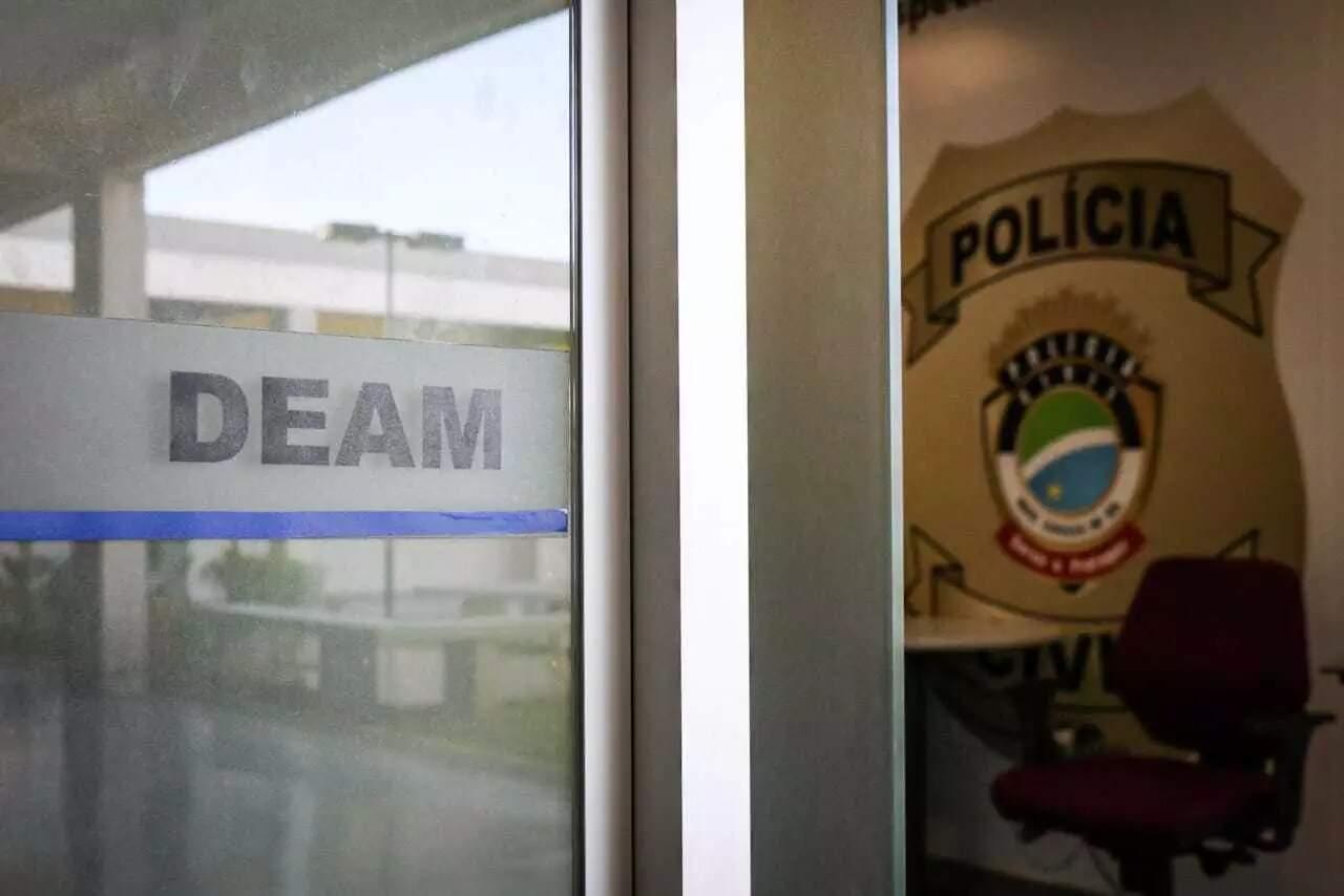 Delegacia Especializada em Atendimento à Mulher, em Campo Grande. (Foto: Jhefferson Gamarra/Arquivo)
