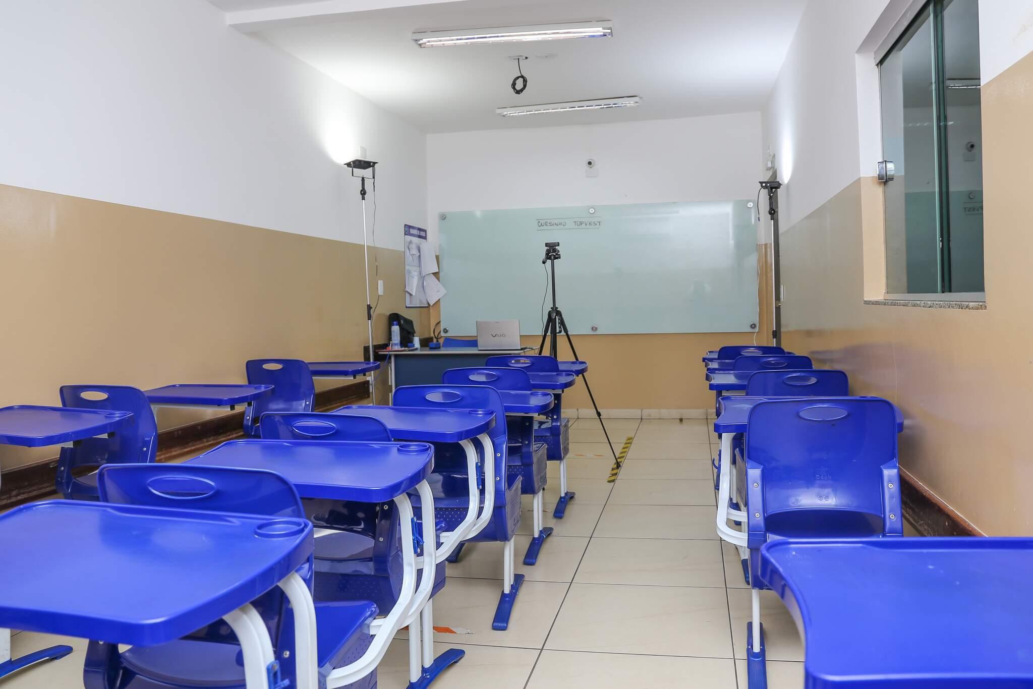 Estrutura é nova, com recursos tecnologicos em benefício dos alunos. (Foto: Paulo Francis)