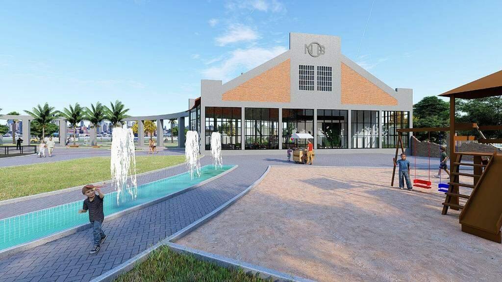 """Projeto apresenta Rotunda mais """"viva"""", diferente do cenário de abandono atual. (Foto: Iphan)"""