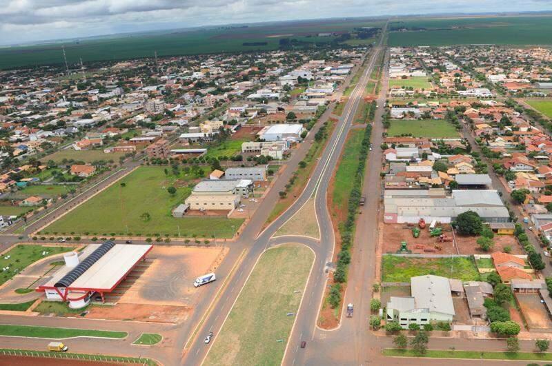 Vista aérea de Chapadão do Sul. (Foto: Divulgação/Subcom-MS)