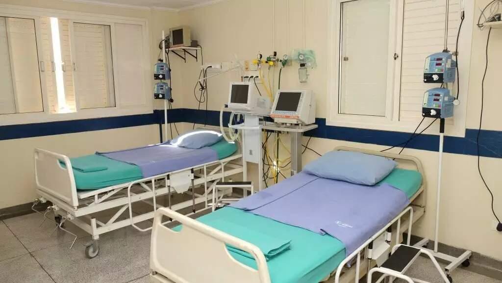 Leitos de UTI vinculados ao SUS no Hospital El Kadri, algumas das estruturas habilitadas durante a pandemia (Foto: Reprodução)