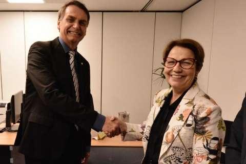 """Bolsonaro crava """"projeto Tereza"""" em MS e diz: """"vanguarda"""""""