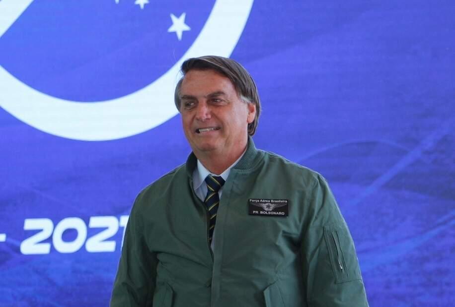 Presidente Jair Bolsonaro em Ponta Porã, no dia 30 de junho deste ano (Foto: Helio de Freitas)