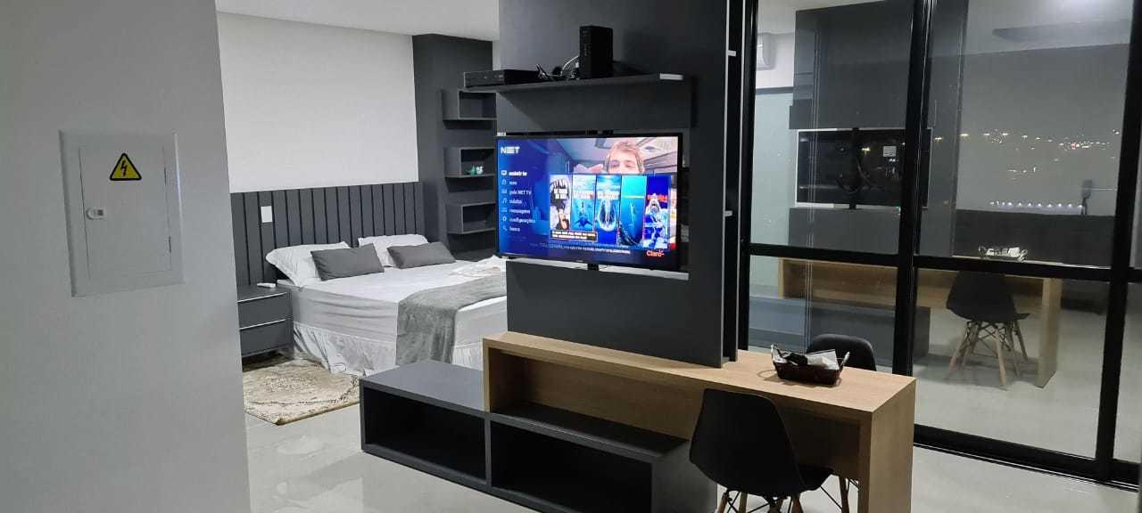Studio confortável, charmoso e todo estruturado para te receber. (Foto: Divulgação)