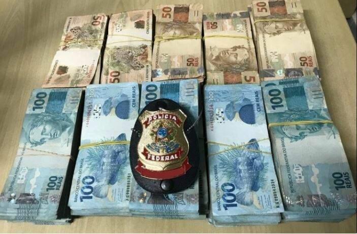 Cédulas de R$ 50 e R$ 100 somavam mais de R$ 200 mil em espécie (Foto Divulgação)
