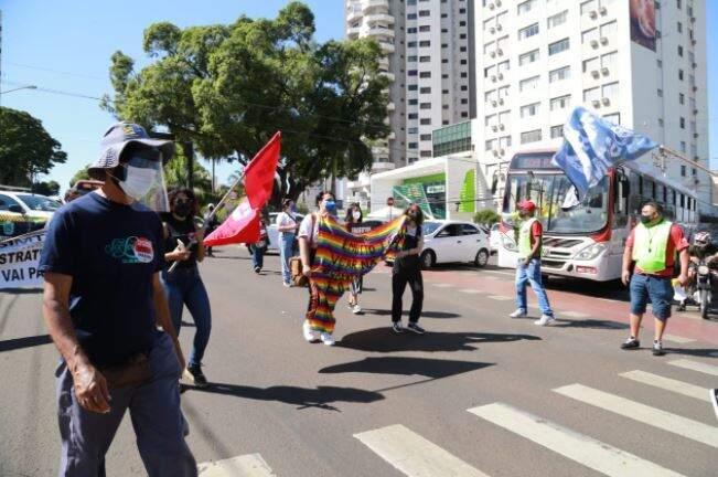 Manifestação contou com organização e regras de biossegurança contra o coronavírus (Foto Kísie Ainoã)