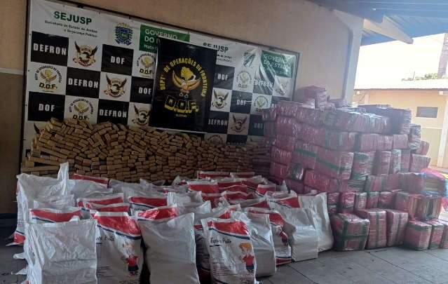 DOF apreende 6,2 toneladas de droga em caminhão na MS-270