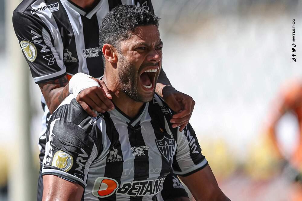 Autor de dois gols, Hulk foi o grande nome da partida. (Foto: Atlético-MG)