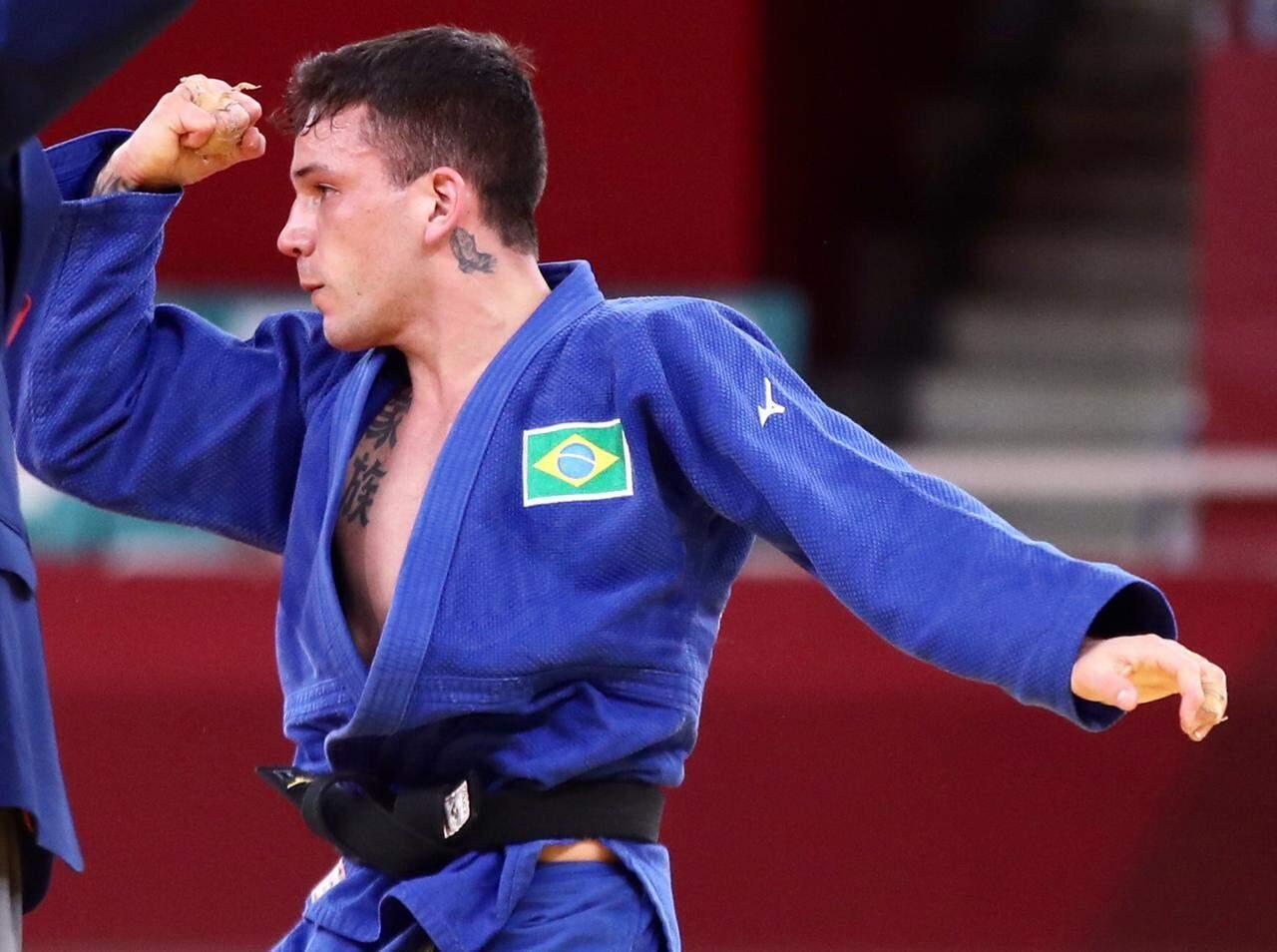 Brasileiro, Daniel Gargnin conquistou primeira medalha de bronze no judô (Foto: Reprodução/Cob)