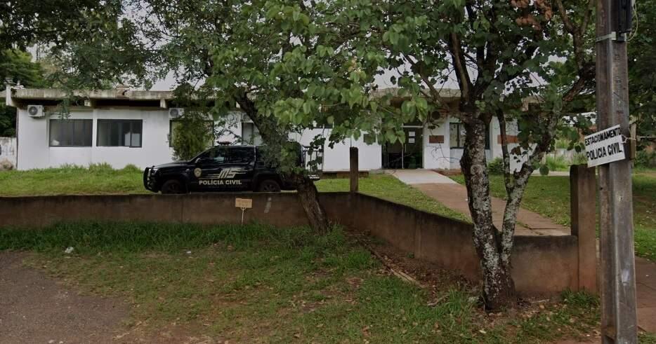 Sede da 1ª Delegacia de Polícia de Ponta Porã. (Foto: Reprodução Google Maps)
