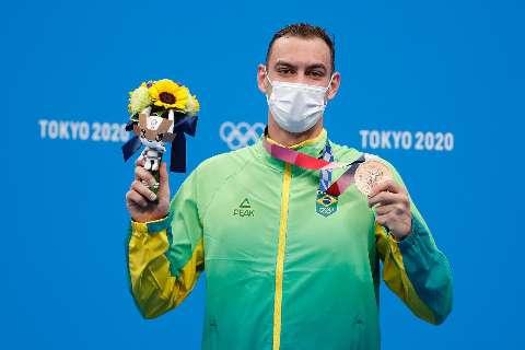 Fernando Scheffer fatura o bronze nos 200 metros livre da natação
