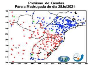 Embrapa lança alerta com base em previsões do INPE-CPTEC