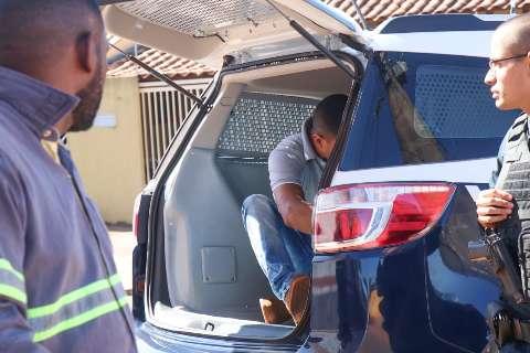 Caminhão é achado por rastreador e mecânico preso após furto