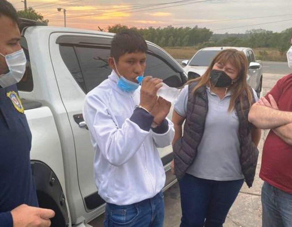 Jhonny Paredes Gauto, do EPP, foi preso hoje no Paraguai (Foto: Última Hora)