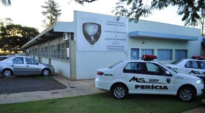 Sede da Coordenadoria-Geral de Perícias, em Campo Grande. (Foto: Divulgação/Sejusp)