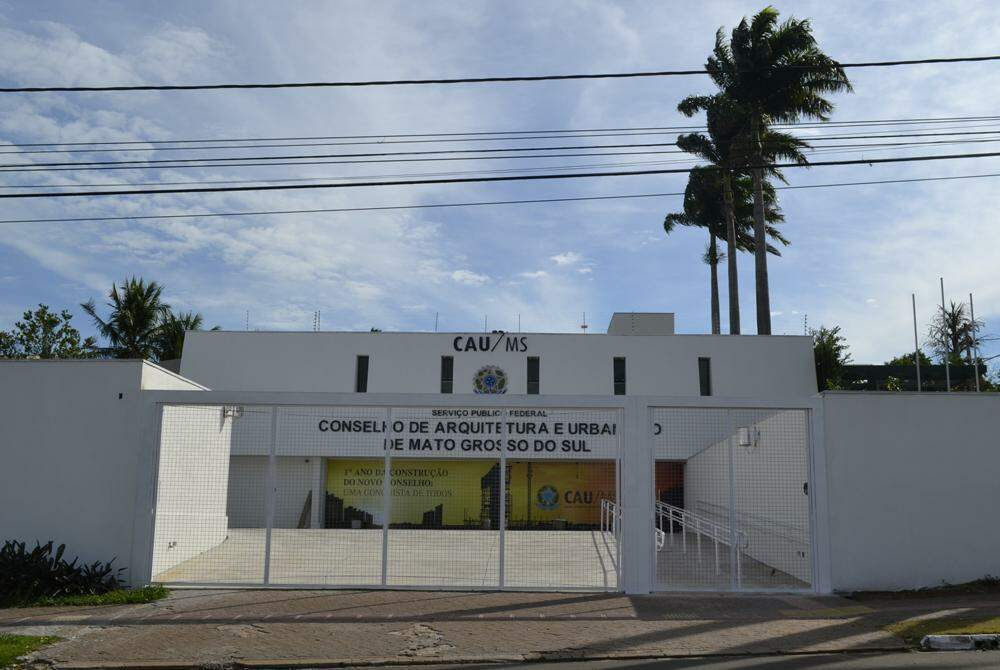 Sede do CAU-MS, em Campo Grande. (Foto: Divulgação)