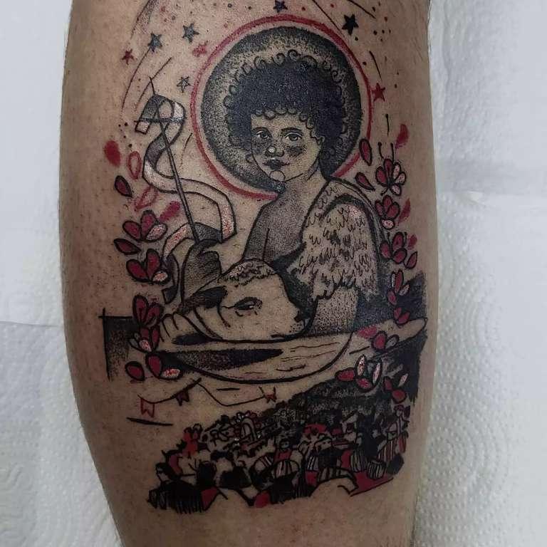 Tattoo homenageia Banho de São João que mudou vida de arquiteto