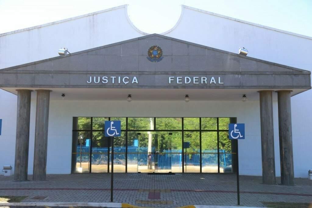 Sede da Justiça Federal no Parque dos Poderes, em Campo Grande. (Foto: Arquivo)