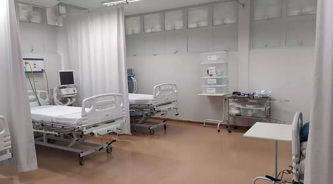 Unidades de terapia intensiva em hospital público de Mato Grosso do Sul (Foto: Reprodução/Governo estadual)