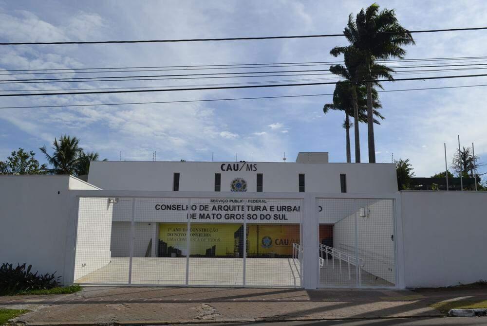 Sede do Conselho de Arquitetura de Urbanismo, em Campo Grande. (Foto: Divulgação)