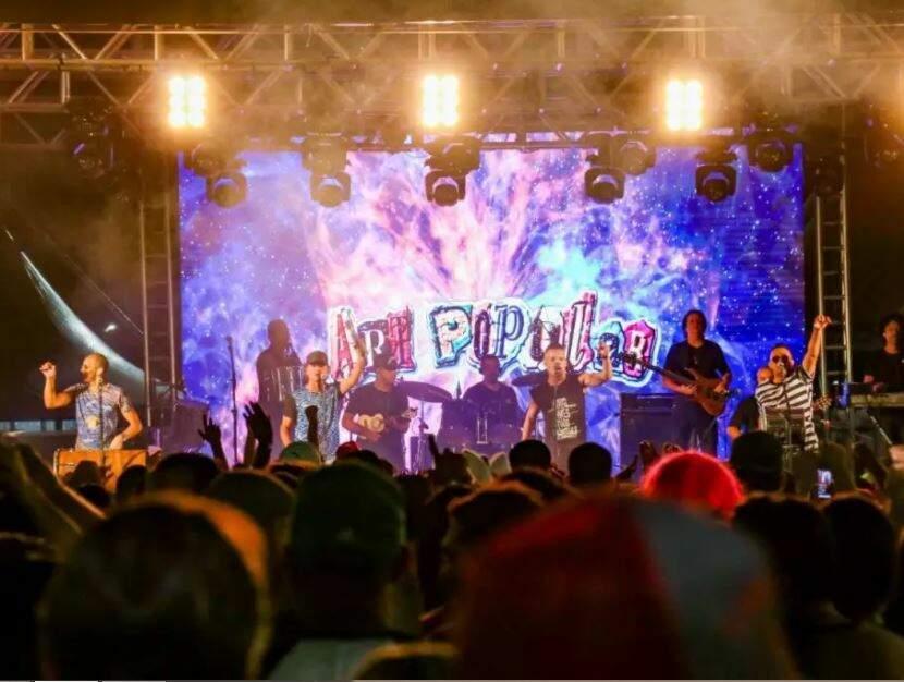 Show do Art Popular, um dos últimos realizados em Campo Grande antes das restrições da pandemia. (Foto: Henrique Kawaminami)