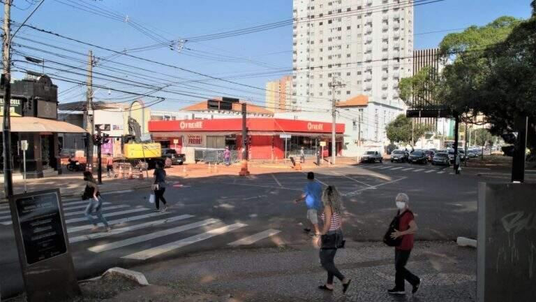 Trecho da Avenida Afonso Pena, no cruzamento com a Rui Barbosa, está entre espaço que será interditado (Foto: Divulgação/PMCG)