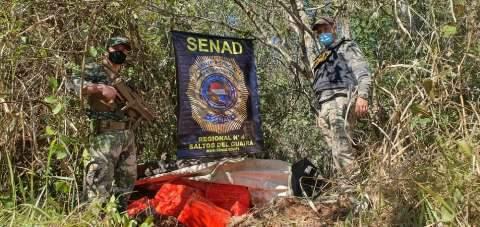 Agência paraguaia encontra quase 500 kg de droga escondidos no mato
