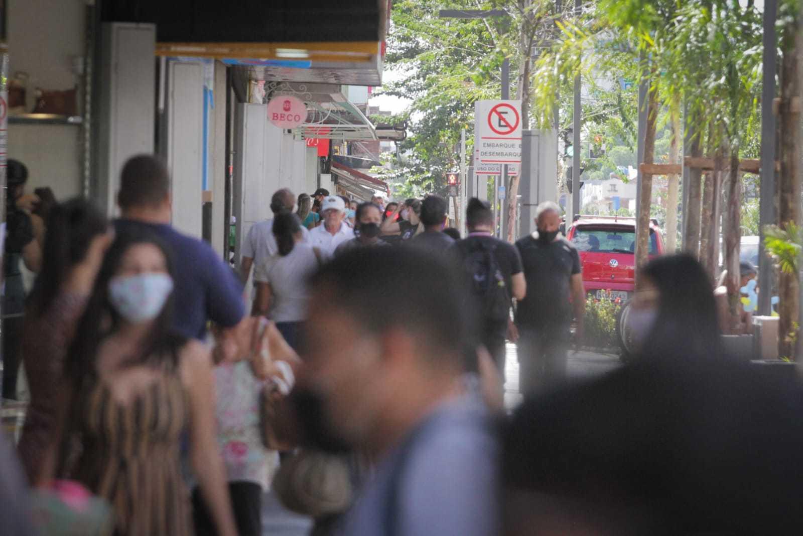 Movimentação do comércio na região central de Campo Grande (Foto/Arquivo)