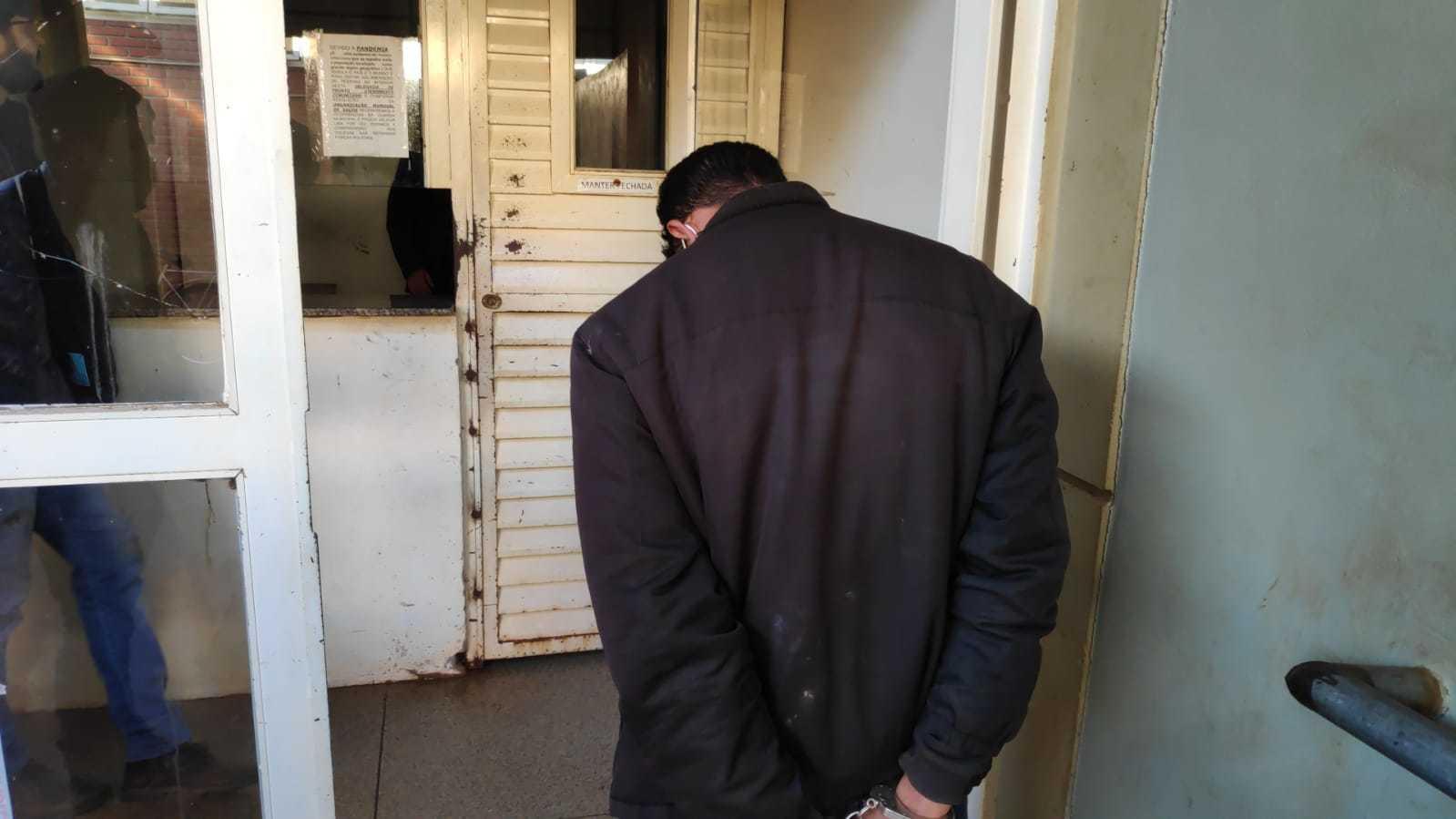 Traficante foi preso em Dourados, com mais de meia tonelada de maconha (Foto: Adilson Domingos)