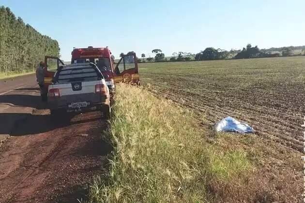 Corpo de idosa foi encontrado em fevereiro de 2017, às margens de rodovia (Foto: Maracaju Speed)