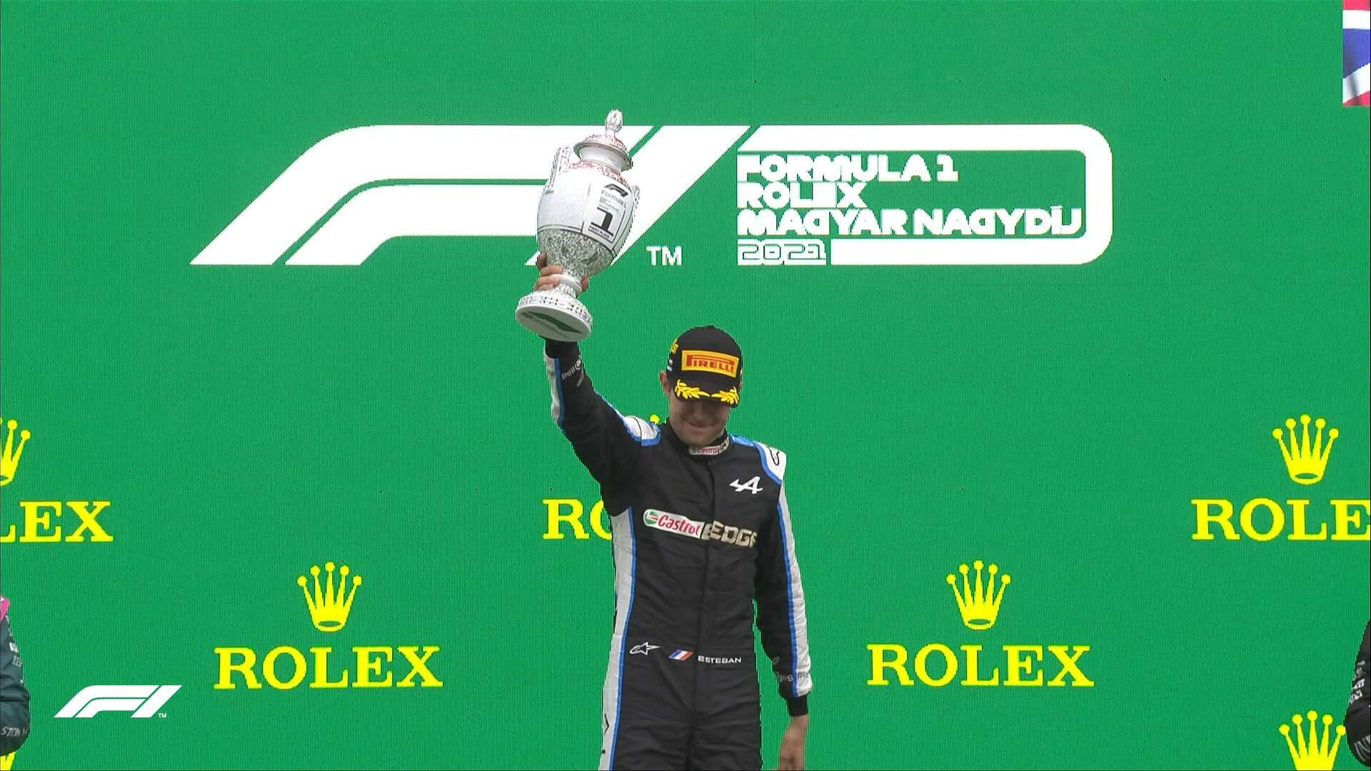 Piloto francês Esteban Ocon, da Alpine superou favoritos e garantiu o lugar mais alto no pódio (Foto: Divulgação/F1)