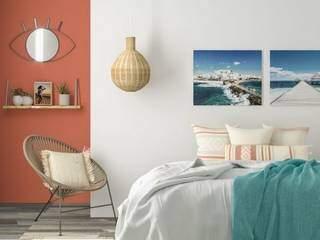 Quadros, luminárias e pintura meia parede também dão aquele charme no ambiente e é fácil de fazer. (Foto: Leroy Merlin)