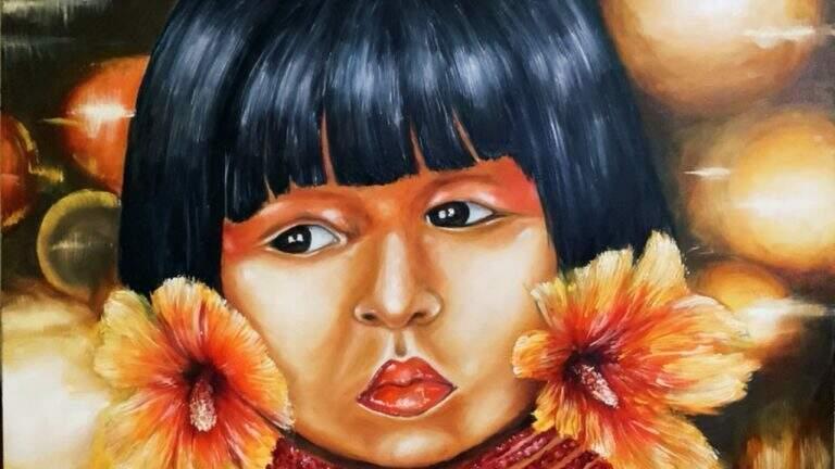 Uma das obras da artista plástica Ana Duarte. (Foto: Divulgação)