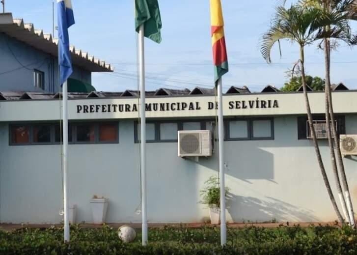 Prefeitura de Selvíria, de onde contara fez os desvios constatados, em 2017. (Foto: Ricardo Terayama/Reprodução/Arquivo)