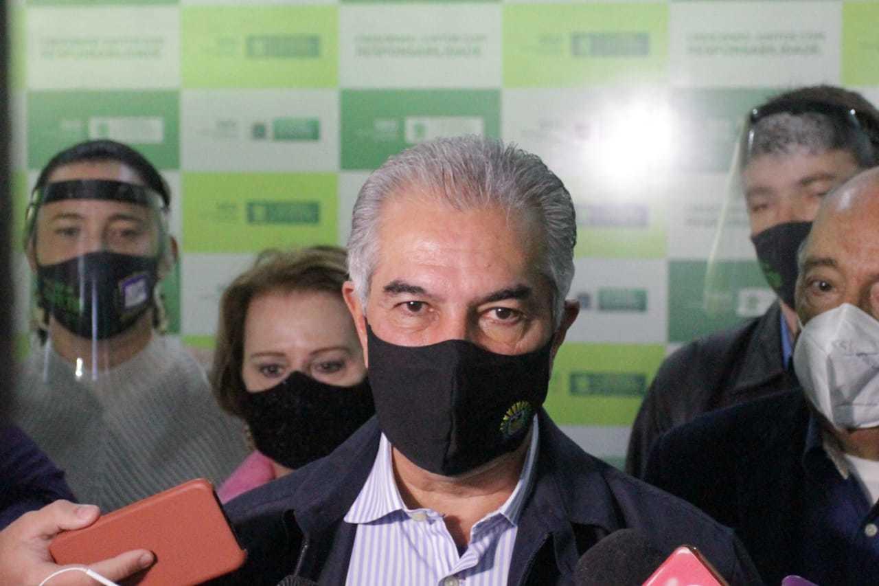 Reinaldo Azambuja convocou todos os secretários de Estado para cobrar metas dos contratos de gestão 2021. (Foto: Marcos Maluf)