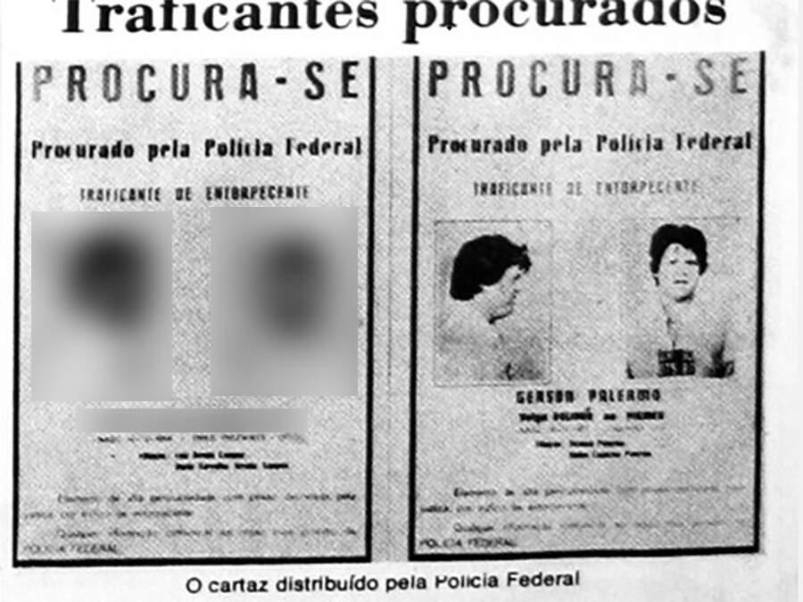 Trinta anos atrás, PF também estava à procura de Gerson Palermo, como mostra cartaz da época. (Foto: Reprodução)
