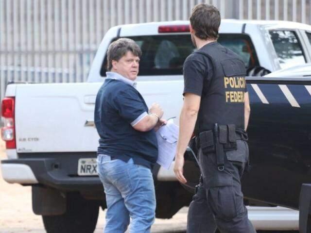 Gerson Palermo durante prisão em 2017, durante a operação All In. (Foto: André Bittar/Arquivo)