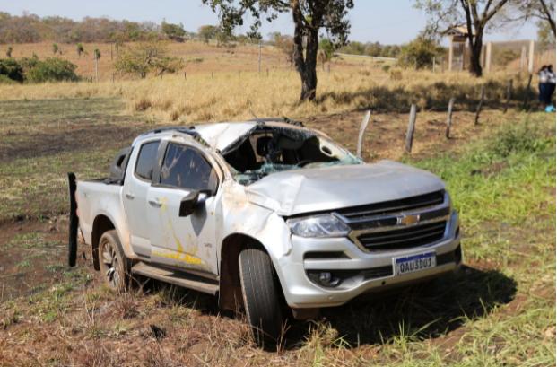 Segundo testemunha, caminhonete capotou de 3 a 4 vezes (Foto Paulo Francis)