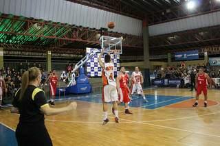 Jogo de basquete realizado no CEMTE. (Foto: Reprodução Redes Sociais)