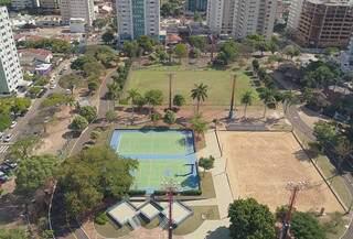 Praça Belmar Fidalgo vista do alto. (Foto: Reprodução Redes Sociais)