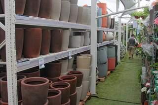 É grande o estoque de vasos para pronta-entrega. (Foto: Marcos Maluf)