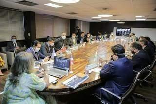 Reunião que definiu MS como sede da conferência. (Foto: Ascom Unale)