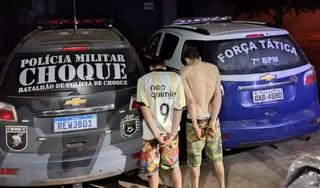 Cristhopher e Roger, suspeitos de participação no roubo, foram presos no mesmo dia (Foto: Reprodução/JornalNotíciasdoEstado)