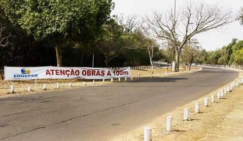 """Em obras, Parque dos Poderes """"reabre"""" com alerta para novo trecho interditado"""