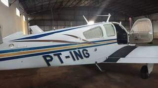 Um dos aviões roubados em Aeroclube de Aquidauana, na madrugada de segunda-feira. (Foto: Arquivo)