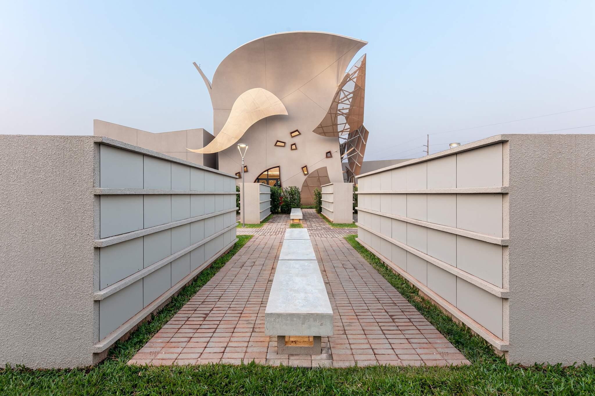 Crematório Campo Grande foi condecorado com a certificação LEED Platinum. (Foto: Divulgação)