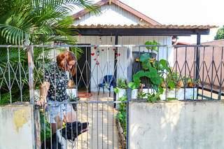Casa é maior paixão de Amanda, que resolveu alugar residência há 1 ano. (Foto: Jéssica Fernandes)